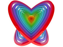 cuore 3D Fotografie Stock