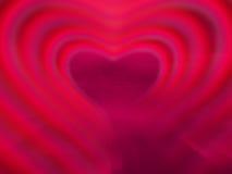 Cuore al neon rosso Fotografia Stock Libera da Diritti