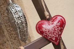 Cuore alsaziano decorativo nella via Fotografia Stock Libera da Diritti