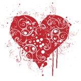 Cuore, amore, disegno, contesto Immagine Stock