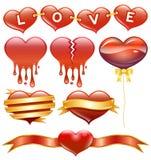 Cuore, amore, elemento di progettazione, astratto Fotografia Stock