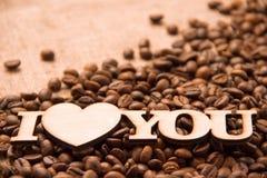 Cuore, amore, romance e caffè Fotografie Stock
