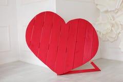 Cuore amoroso rosso Fotografie Stock