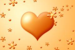 Cuore arancione Fotografie Stock Libere da Diritti