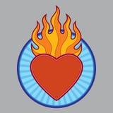 Cuore ardente bruciante Fotografia Stock Libera da Diritti