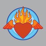 Cuore ardente bruciante Immagine Stock