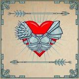 Cuore in armatura royalty illustrazione gratis