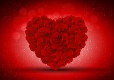 Cuore astratto delle rose illustrazione di stock
