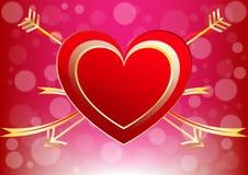Cuore astratto di un fondo decorativo di amore di Valentine Day Fotografia Stock Libera da Diritti