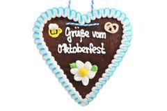 Cuore bavarese del pan di zenzero fotografia stock libera da diritti
