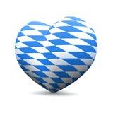 Cuore bavarese di amore della bandiera Immagini Stock Libere da Diritti