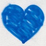 Cuore blu Fotografia Stock