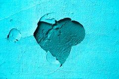 Cuore blu del gesso del fondo fotografie stock libere da diritti