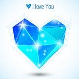Cuore blu del triangolo Fotografie Stock Libere da Diritti