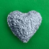 Cuore brillante d'argento Immagine Stock Libera da Diritti