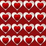 Cuore brillante del pomodoro dentro le forme del cuore Fotografia Stock