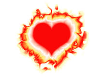 Cuore Burning Fotografia Stock