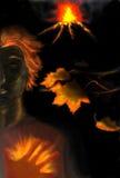 Cuore Burning Fotografie Stock Libere da Diritti