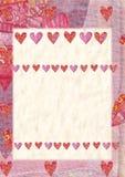 Cuore, cartolina d'auguri per il San Valentino Fotografie Stock