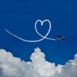 Cuore in cielo come simbolo per amore Fotografia Stock Libera da Diritti