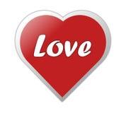 Cuore con amore Immagine Stock