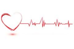 Cuore con cardiologia Fotografia Stock Libera da Diritti