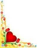 Cuore con decorato floreale Fotografia Stock Libera da Diritti