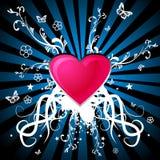 cuore con gli ornamenti Immagini Stock Libere da Diritti