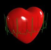 Cuore con il cardiogram illustrazione vettoriale