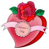 Cuore con il San Valentino dell'iscrizione Immagine Stock Libera da Diritti