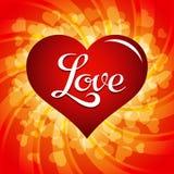Cuore con l'iscrizione di amore Fotografie Stock