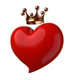 Cuore con la corona. Fotografia Stock
