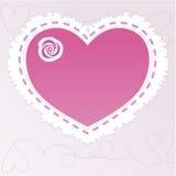 cuore con una rosa Fotografia Stock Libera da Diritti