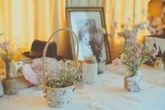 Cuore d'annata del wirh della decorazione di nozze Fotografia Stock Libera da Diritti