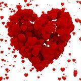 cuore 3d fatto dei cuori Fotografia Stock