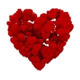 cuore 3d fatto dei cuori Fotografia Stock Libera da Diritti
