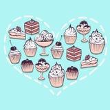 Cuore dai dolci illustrazione di stock