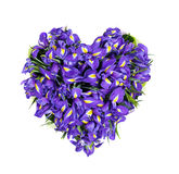 Cuore dai fiori Fotografia Stock