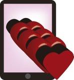 Cuore dal cellulare Immagine Stock