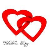 Cuore dalla carta di carta di giorno di biglietti di S. Valentino Fotografia Stock