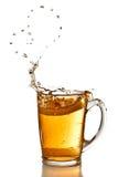 Cuore dalle bolle di tè Fotografia Stock