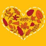 Cuore dalle foglie illustrazione di stock