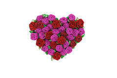 Cuore dalle rose Immagine Stock