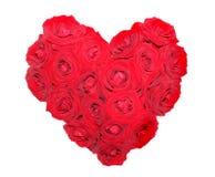 Cuore dalle rose rosse Immagini Stock