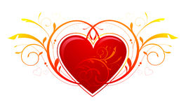 Ornamenti del cuore del rotolo illustrazione vettoriale illustrazione di cuori immaginazione - Decorazioni di san valentino ...