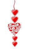 Cuore dei biglietti di S. Valentino royalty illustrazione gratis