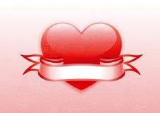 Cuore dei biglietti di S. Valentino Immagine Stock