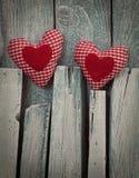 Cuore dei biglietti di S. Valentino Fotografie Stock