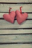 Cuore dei biglietti di S. Valentino Fotografia Stock Libera da Diritti