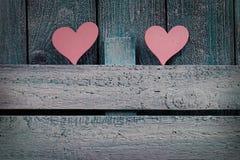 Cuore dei biglietti di S. Valentino Fotografia Stock